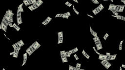 US Dollars Falling, Luma Matte Animation