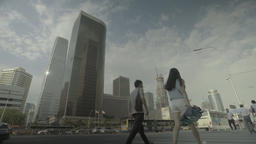 The business center of Beijing. Cityscapes of Beijing. China Footage