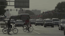 Road in Central Beijing. Asia. China Footage