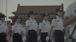 People on the Square Tiananmen. Beijing . China Footage