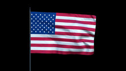 America Flag Waving, Seamless Loop Animation