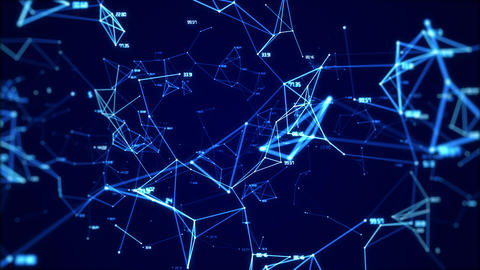 Animation of the global digital network with numbers abstract background looped Animation