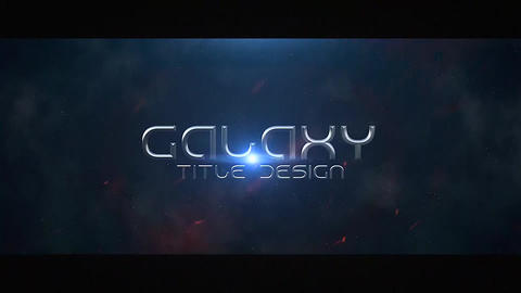 Galaxy Title Design Apple Motion Template