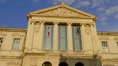 Palace of Justice in Nice in the historic district - CITY OF NICE, FRANCE - JULY Live Action