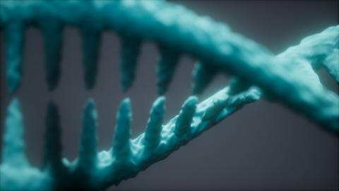 bright particulate 3D rendered DNA Live Action