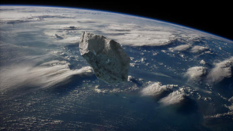 Dangerous asteroid approaching planet Earth Live Action