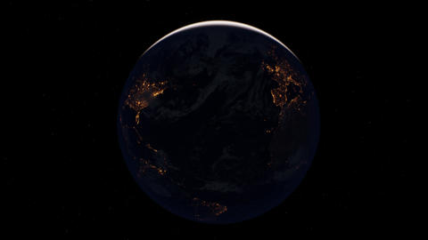 earth globe planet from space orbit Live Action