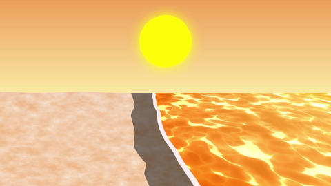 ANIMATION BACKGROUND【BEACH】3 Color