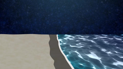 ANIMATION BACKGROUND【BEACH】3 Color 0