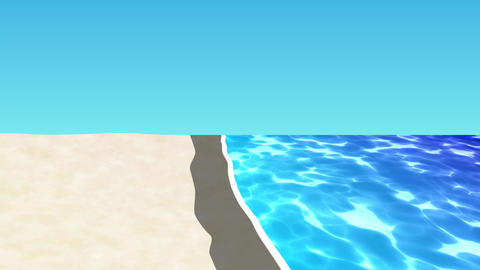 ANIMATION BACKGROUND【BEACH】3 Color 1