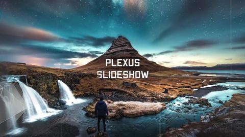 Slideshow - Elegant Plexus // Final Cut Pro Apple Motion Template
