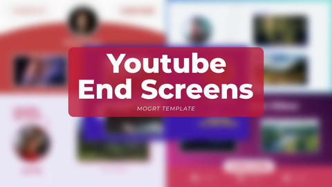 Youtube End Screens Motion Graphics Template