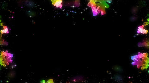 Rainbow-colored particle background material Animation