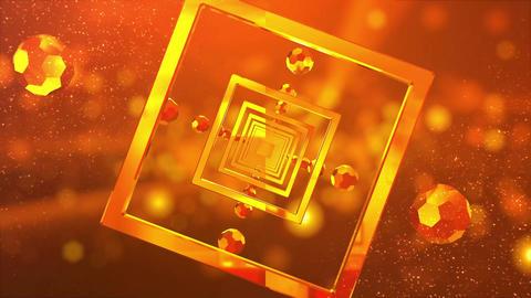 金色のVJ用トンネル背景 CG動画