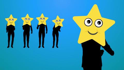 Star dance video Animation