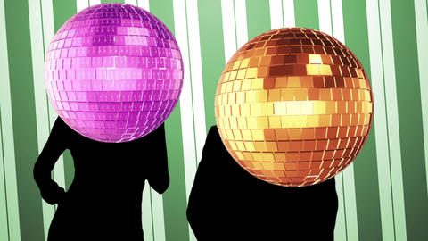 Mirror ball dance video Animation