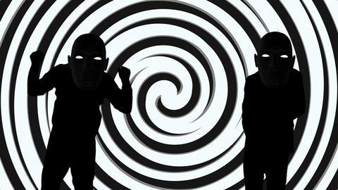 Suspicious person dance video Animation