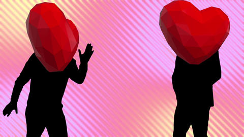 heart dance video Animation