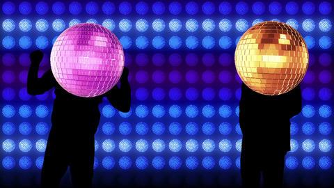 Mirror ball dance video Animation