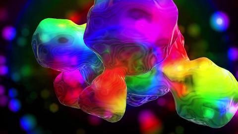 虹色のVJ用トンネルの動画 CG動画