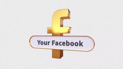 3D Social Media Lower Thirds Plantillas de Motion Graphics