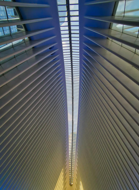 Transportation Hub (Oculus) in New York city in Financial District interior view Fotografía