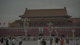 The Symbol Of China. Tiananmen. Beijing. China Live Action