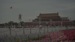Tiananmen Square. Symbol Of Beijing. Chinese Footage