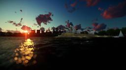 Beautiful timelapse sunrise over Sydney Opera House, dolly shot Animation