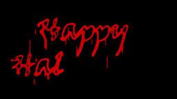 Blood Happy Halloween, against black Animation