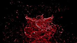 Blood Splash against black, Alpha Animation