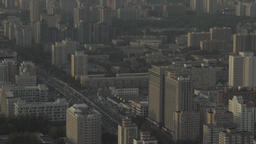 Beijing. China. General view of the city of metropolis from a height Footage