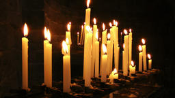 Burning candles in Saint Peter Church, Portovenere Footage