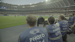 Photographers during the match. Media. Press Footage