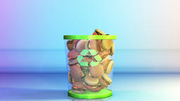 Cheeseburgers falling in a Garbage Bin, Dieting Concept, Alpha Animation
