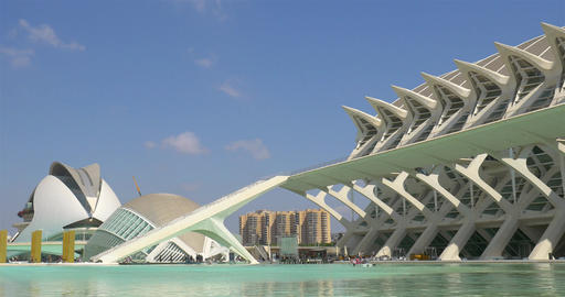 Calatrava City Of Arts And Sciences In Downtown City Of Valencia Footage