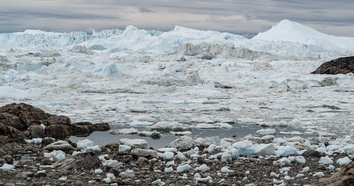 Iceberg and ice from glacier in arctic nature landscape on Greenland. Video of Live Action
