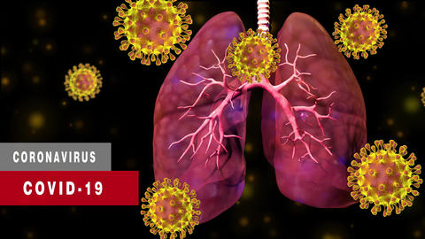 Coronavirus Covid-19 outbreak of contagious infection attacks the lungs CG動画