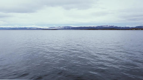 Boat View Moving Forward In The Beagle Channel ライブ動画