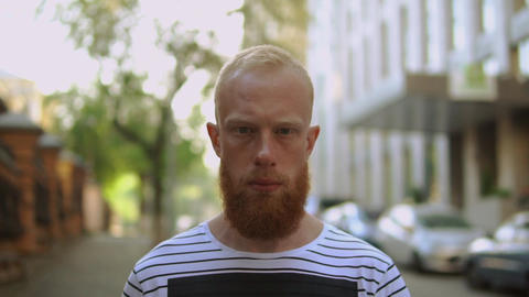 redheaded focused men Live Action