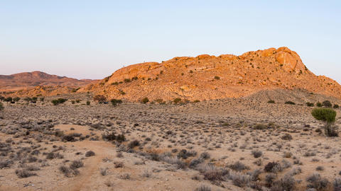 Panorama on colorful sand dunes and scenic landscape in the Namib desert Namibia Africa 2 Live Action
