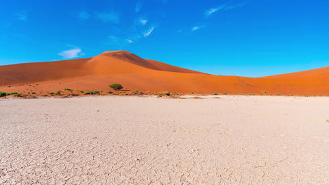 Panorama on colorful sand dunes and scenic landscape in the Namib desert Namibia Africa 9 Live Action