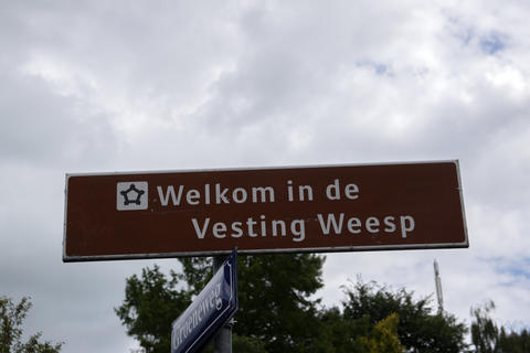 Billboard Welcome In The Vesting Weesp The Netherlands 20-7-2020 フォト
