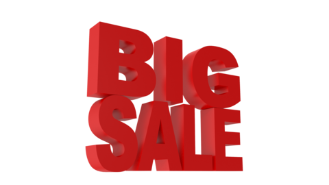 Big Sale Animated 3D Text Videos animados