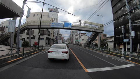 A pov timelapse of driving cityscape at Inokashira avenue in Tokyo Acción en vivo