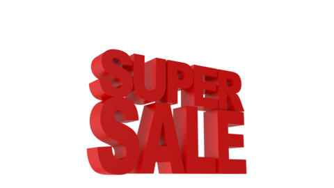 Super Sale Animated 3D text Videos animados