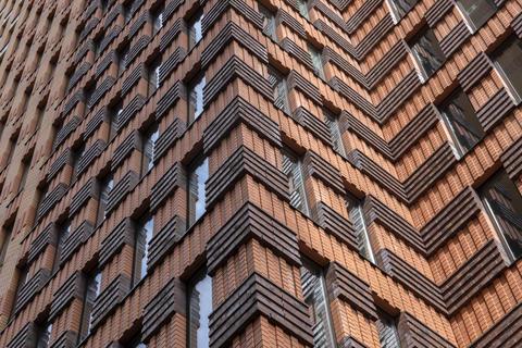 Modern Flat Buildings At The Gustav Mahlerplein At Amsterdam The Netherlands 19-7-2020 フォト