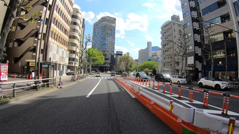 A pov timelapse of driving cityscape at Meiji avenue in Tokyo Acción en vivo
