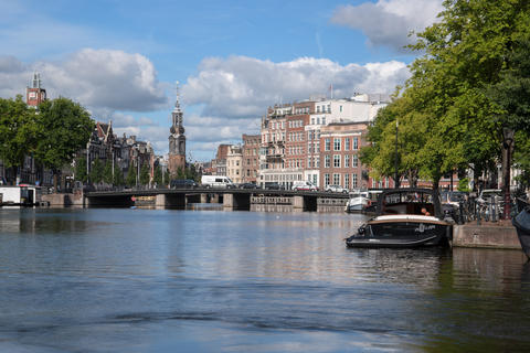 View On The Halvemaansbrug At Amsterdam The Netherlands 22-7-2020 フォト