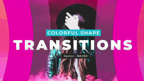 Davinci Resolve Macros - Colorful Shape Transitions